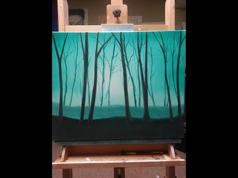 Oil Painting For Beginners Wet On Wet - very easy oil ... Very Simple Canvas Paintings