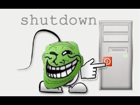 أغلق حاسوب أي شخص متصل معك بالشبكة بدون برامج من حاسوبك أنت