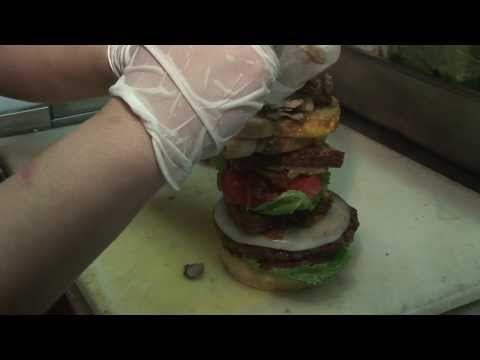 One huge burger with grilled cheese, meet the Sasquatch Burger