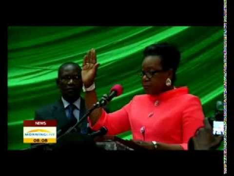CAR's interim president Catherine Samba-Panza took office