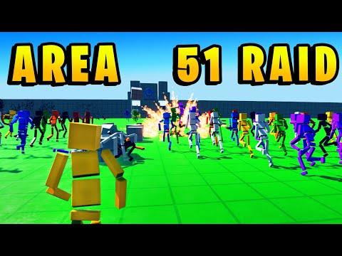 STORM AREA 51 RAID Simulation - They Can't Stop Us All! - Fun With Ragdolls (Funny)
