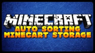 Minecraft: AUTO SORTING MINECART STORAGE! (Minecraft Tutorial)