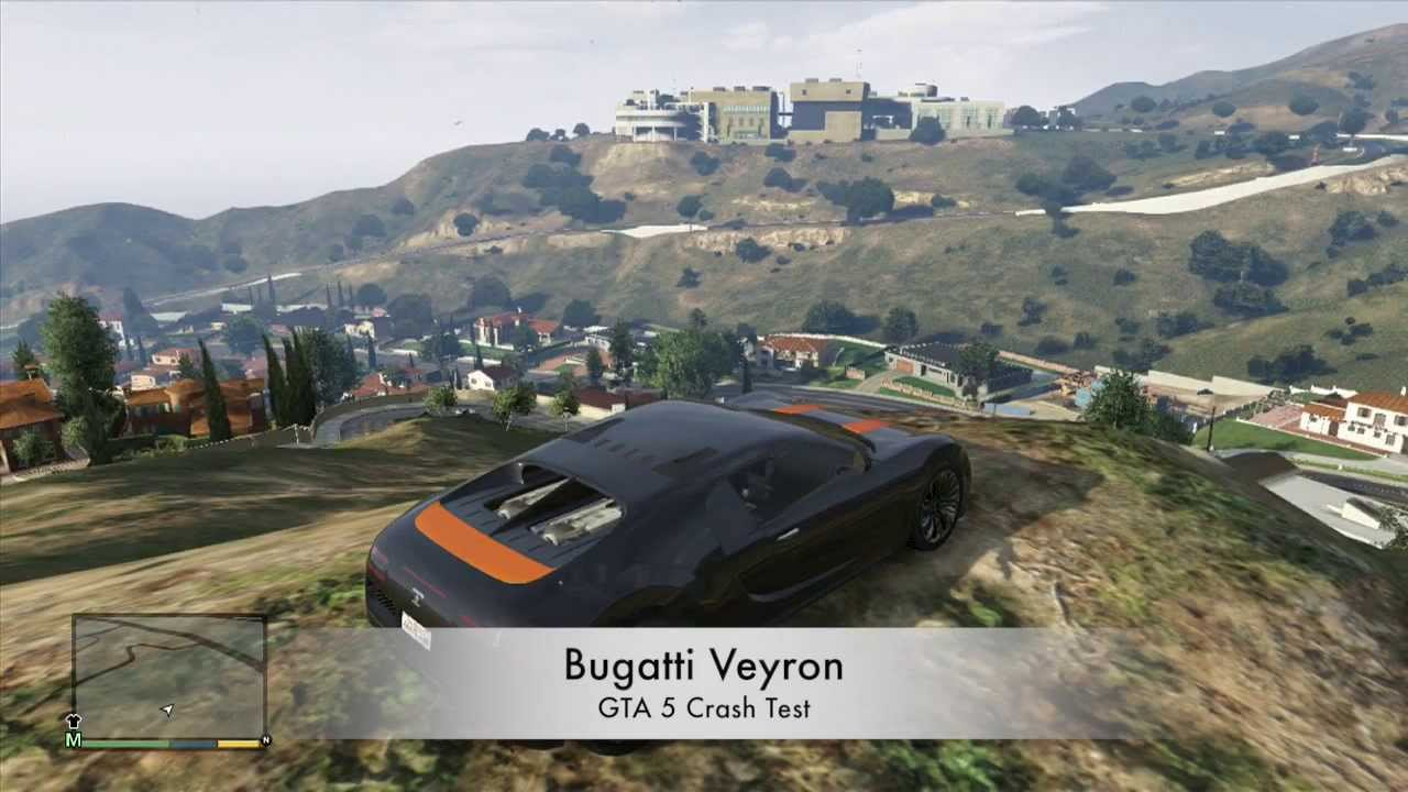 gta 5 v xbox 360 bugatti veyron crash testing gameplay. Black Bedroom Furniture Sets. Home Design Ideas