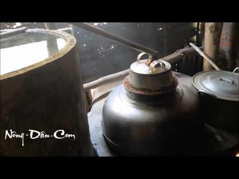 Clip hay  Nấu Rượu theo cách cổ truyền Việt Nam   Vietnamese Rice Wine making procedure  2016