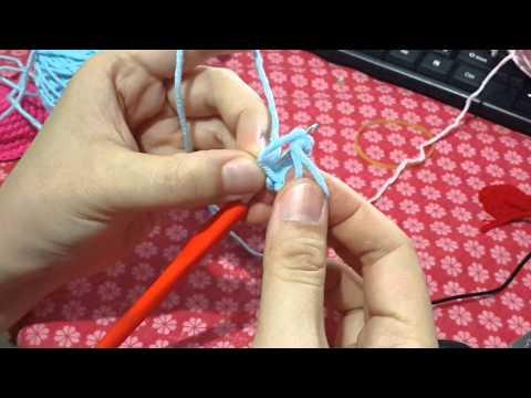 鉤針教學-環狀起針 短針 加針