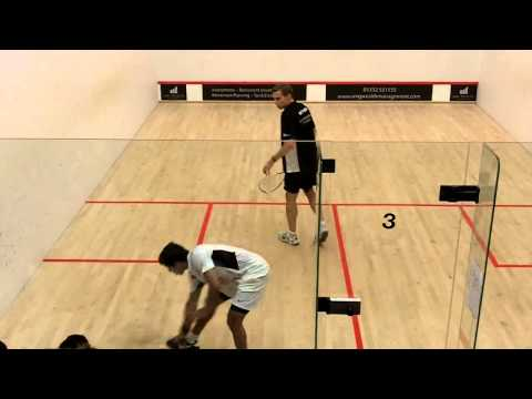Squash video Nick Matthew v Saurav Ghosal match (first game) PSL 2014 Duffield v Pontefract