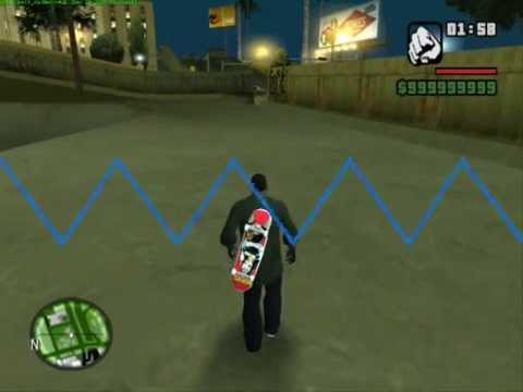 Grand Theft Auto: San Andreas Free Running Parkour,Skateboarding And