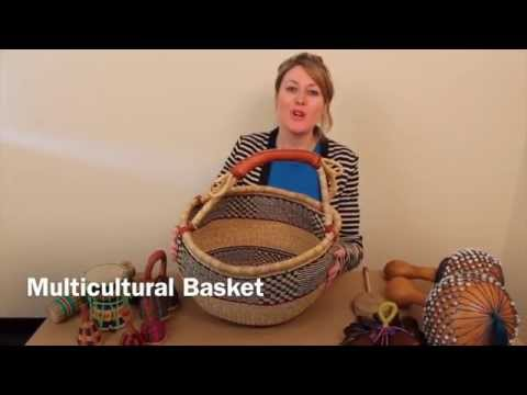 African Multicultural Music Basket