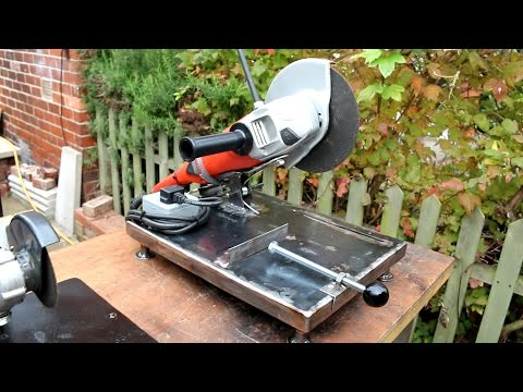 Homemade large angle grinder stand and metal chop saw 2 in 1