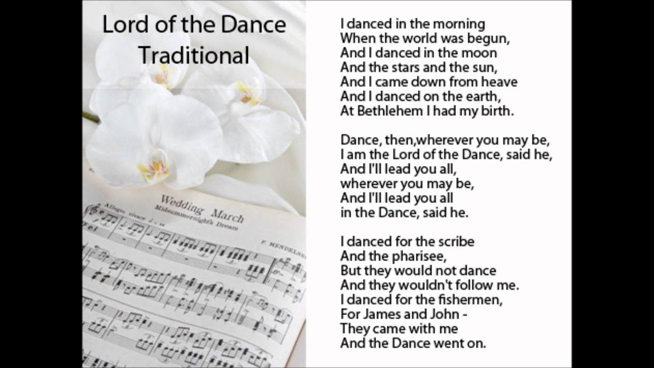 Lord of the dance catholic hymn lyrics