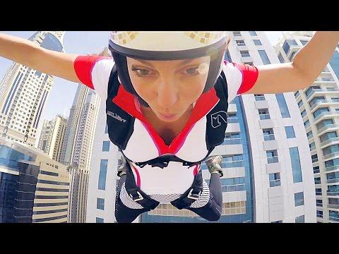 Dubai Freefall | Roberta Mancino Princess Tower exit | raw 4k short