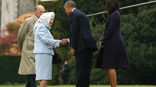 Barack Obama and Queen Elizabeth do lunch