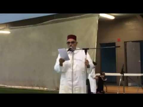 المغربي الدكتور بيطار يلقي خطبة العيد بكندا