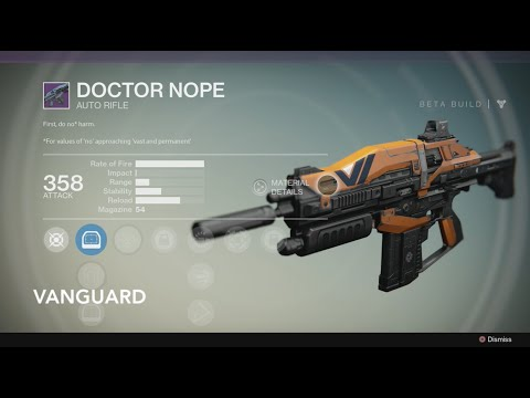 Destiny - Vanguard Weapons, Crucible Weapons, & Legendary Weapons!