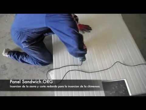 Panel Sandwich-Agujero para chimenea