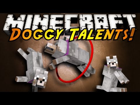 Minecraft Mod Showcase : DOGGY TALENTS!, SIT, STAY, KILL THE SPIDER WITH FLAMES! GOOD DOG! TRAIN YOUR DOG TO NEW LEVELS, ABILITIES AND MAKE THE STRONGEST DOG POSSIBLE! Check out the mod here! (tell ...