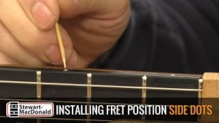 Watch the Trade Secrets Video, Video: Tips for installing fretboard side dots
