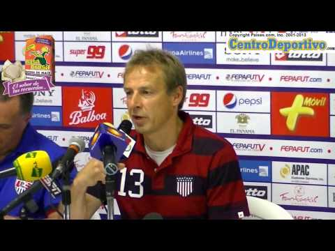 Jurgen Klinsmann press conference after US victory against Panama in Panama City