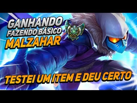 GAMEPLAY ENSINANDO COMO GANHAR FAZENDO O BÁSICO - MALZAHAR MID LANE - LOL!!