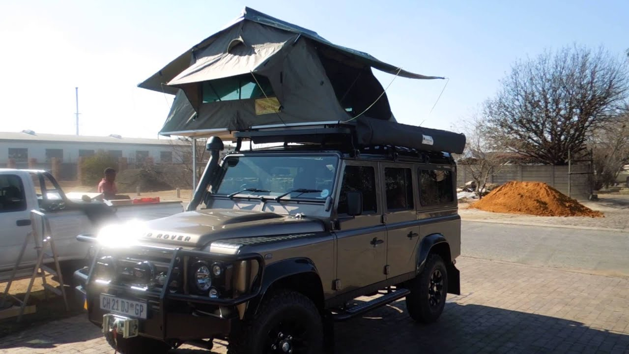 Land Rover 110 Defender Fitted With A Eezi Awn 1 4m Roof