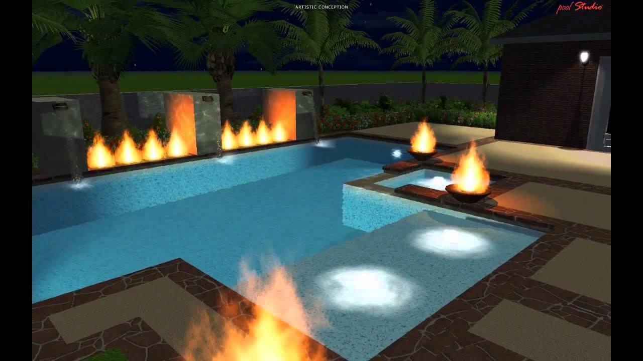 Pool studio 3d swimming pool design youtube for Swimming pool design 3d