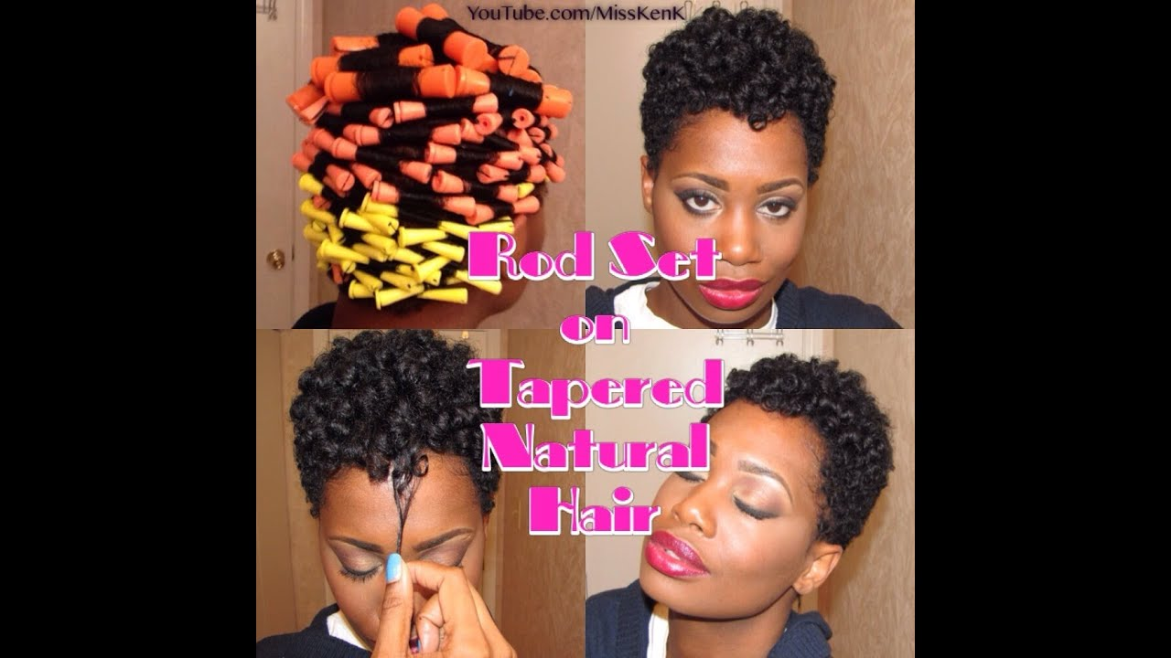 Heatless Rod Set on Tapered Natural Hair 👌👍 - YouTube