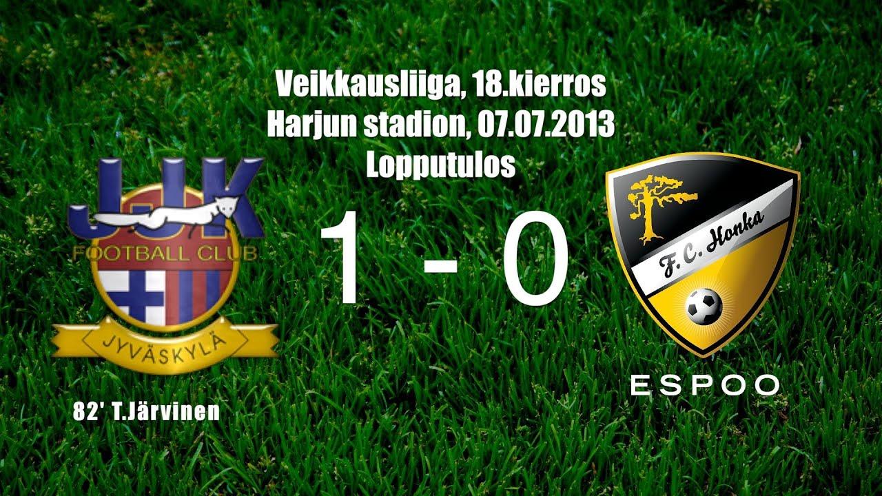Jyvaskyla JK 1-0 Honka Espoo