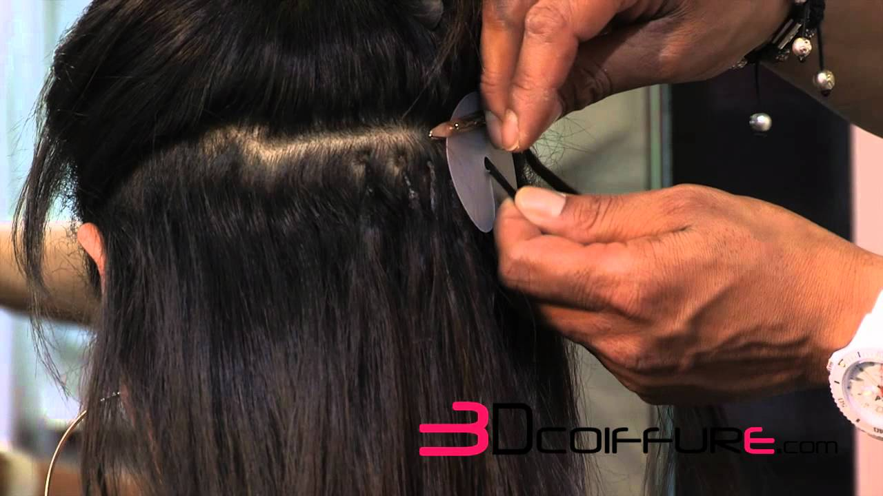 extensions de cheveux pose chaud 3d coiffure youtube. Black Bedroom Furniture Sets. Home Design Ideas
