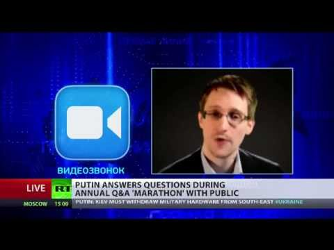 Snowden asks Putin about Russian eavesdropping practices on live TV