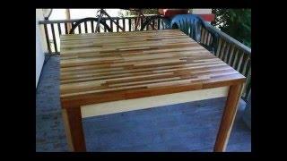 Como hacer una mesa con trozos de madera