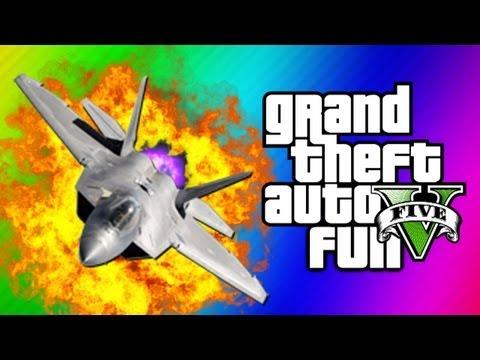GTA 5 Funny Moments 5 - Fighter Jet Fun, Tank Glitch, Statue Guy, Flight School (GTA 5 Gameplay)