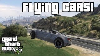 GTA V: Flying Cars! (Low Gravity Cheat Code)