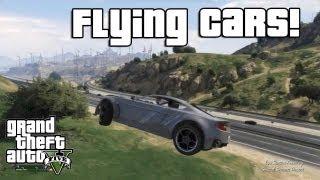 GTA V: Flying Cars! (Low Gravity Cheat Code)