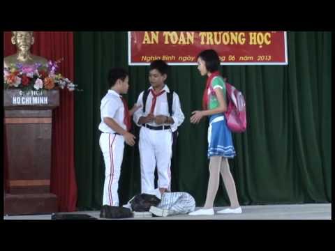 Hội thi an toàn trường học   trường THCS Nghĩa Bình