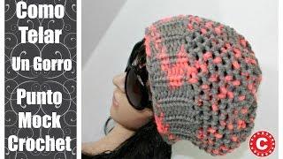 ... caído con el puntado mock crochet en telar de tejer. Para mas  informasion de materiales y el patrón  http   www.comotelar.com gorro-con-punto-mock-  ... d40630cf7d3