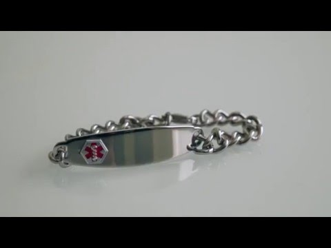 Medical ID Information Bracelet Stainless Steel 8