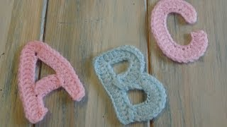 (crochet) How To Crochet Letters A, B And C Yarn Scrap