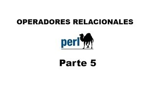 Perl tutorial. Parte 5