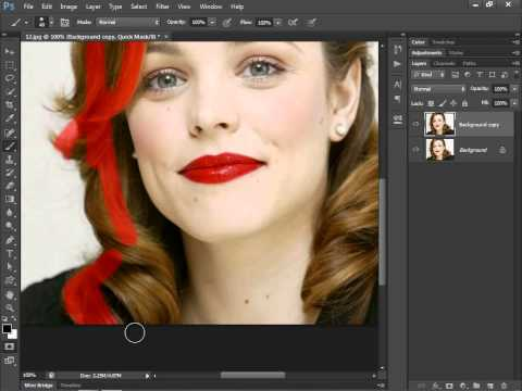 13.[Ps] Change Hair Color - Photoshop Tutorial [In Hindi]