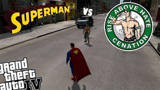 GTA 4 WWE John Cena Mod Vs Superman Mod THE CHAMP IS