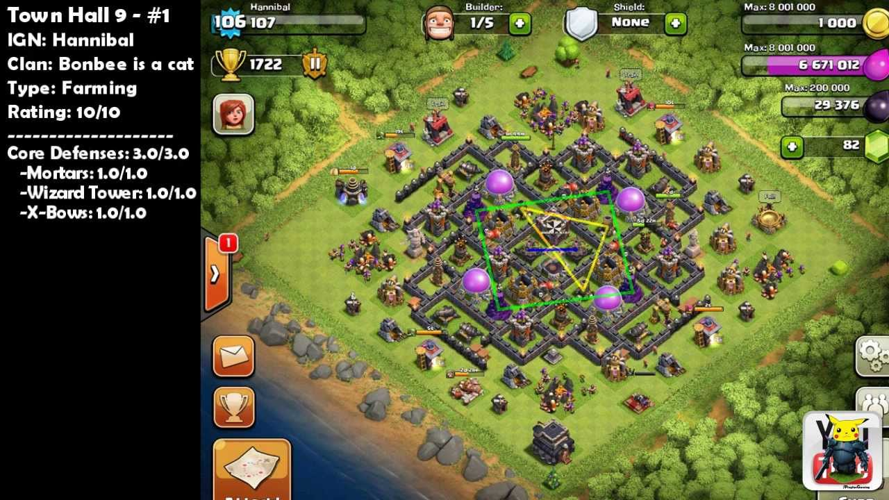 Town Hall 10 Clash of Clans Base Design