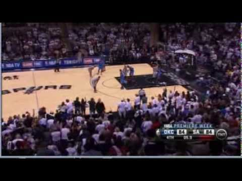 Tony Parker Game Winning Shot Thunder-Spurs 11-1-12