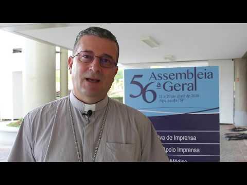 Dom Onécimo Alberton fala sobre o segundo dia da 56ª Assembleia Geral da CNBB