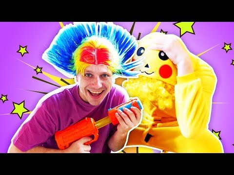 Pie in the Face Challenge & Nerf Guns! Funny Videos & Funny Games - Whipped Cream Family Fun