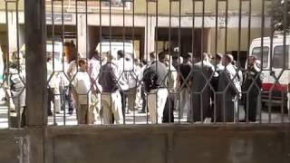 فيديو وصور.. إضراب العاملين بإسعاف المنيا احتجاجًا لتعرض أحد زملائهم للضرب