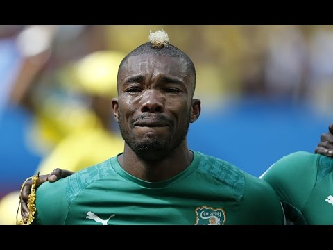 Serey Die Crying During National Anthem vs Colombia