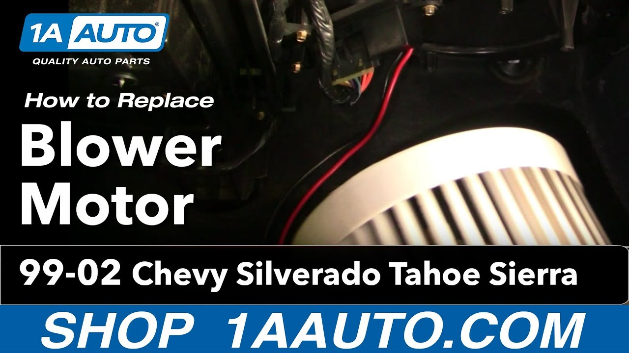 How To Install Replace Heater Ac Blower Motor Chevy Silverado Tahoe Sierra 99
