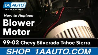 How To Install Replace Heater AC Blower Motor Chevy