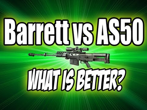 MW3 Tips & Tricks: Barrett 50 Cal vs AS50 - The BEST Sniper in Modern Warfare 3? (Modern Warfare 3)