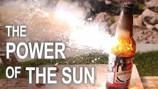 Burning Stuff With 2000ºF Solar Power!!